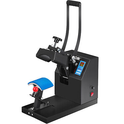 "Heat Press Transfer Digital Clamshell 7"" x 3.75"" Hat Cap Sublimation Machine New"