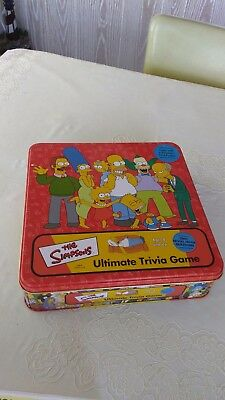 The Simpsons Ultimate Trivia Game - 2002 -USED IN BOX - OPENED BARELY USED