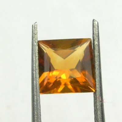 7x7mm Square Princess Cut Natural Orange Citrine Loose Gemstone, 1,35 carat