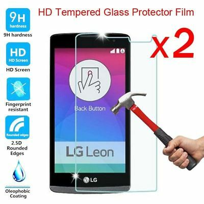 2Pcs LOT 9H+ Premium Tempered Glass Film Screen Protector For LG Cell Phone