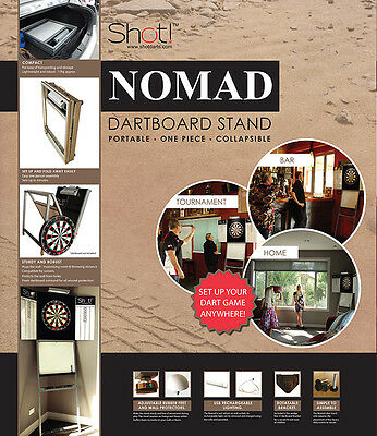 Shot Darts Nomad dartboard stand with Bandit dartboard with FREE SHIPPING!!!