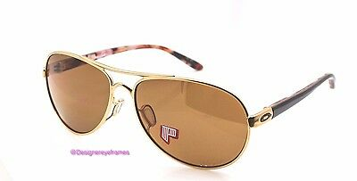 OAKLEY TIE BREAKER OO 4108 03 Pink Hava/Gold Brown Polarized Sunglasses NWC AUTH