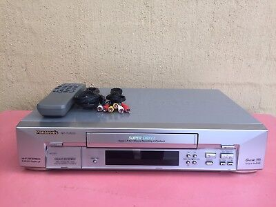 Serviced Panasonic NV-FJ600 Stereo Video Recorder Player + REMOTE VHS Player VCR