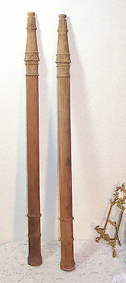 Vintage Wood Architectural Trim Newel Pilaster Spindle Victorian DIY Re Purpose