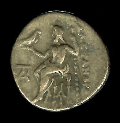 Authentic Ancient Greek Coin Alexander the Great Silver Drachm Herakles Zeus D14