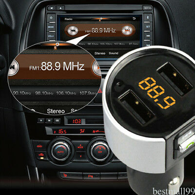 FM Transmitter Wireless In-Car Bluetooth Handsfree Car Kit Adapter USB Charger R
