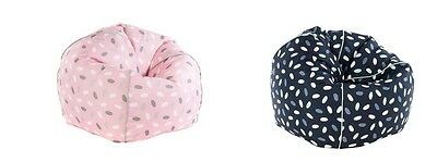 Kids Bean Bag Confetti Design Pink Navy Blue Lounge Spotted Durable Soft Fabric