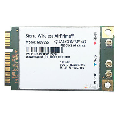 Sierra Wireless AirPrime MC7355 AT&T 4G LTE/HSPA+ 100Mbps PCI-E Module WWAN Card