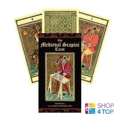 The Medieval Scrapini Tarot Cards Deck Luigi Scapini Us Games Systems New