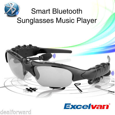 Bluetooth Smart Glasses Polarized Sunglasses + Earphone Pedometer Music Player