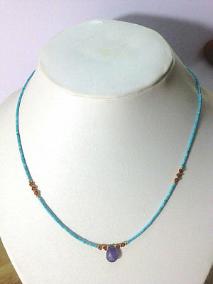 Afghan Natural Coral Malachite /& Garnet Tiny Seed Beads Necklace Gemstone