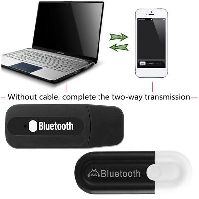 USB Bluetooth & 3.5mm Aux Dongle Audio Receiver Wireless Music Adapter A2DP DU