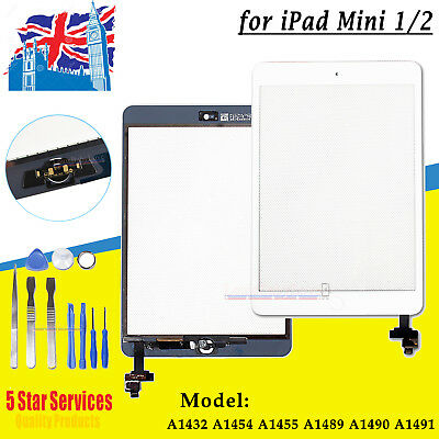 Apple Ipad Mini 1 Mini 2 Replacement  Touch Screen Digitizer Lens Ic Cable White