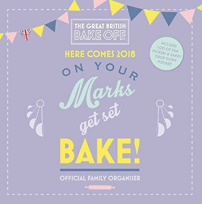 The Great British Bake Off Family Organiser Official 2018 Square Calendar GBBO