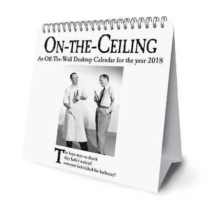 On the Ceiling Official 2018 Desk Easel Calendar Month to View Format
