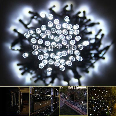 100 200 leds solar lichterkette weihnachten party garten. Black Bedroom Furniture Sets. Home Design Ideas