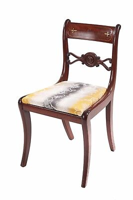 Regency Mahogany Brass Inlaid Desk Chair