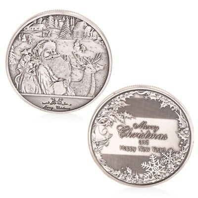 Merry Christmas And Happy New Year Commemorative Coin Collectible Collection Art