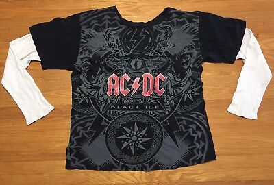 AC/DC Black Ice (2008) T-shirt with Thermal Sleeves - Adult Large