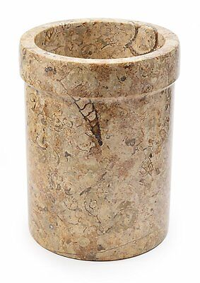 Cream marble wine & champagne cooler or large utensil holder beautiful gift