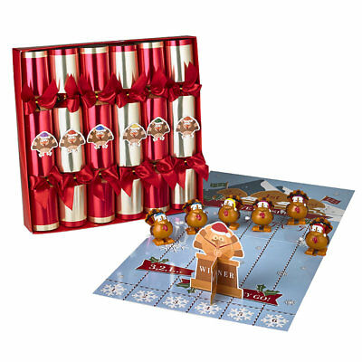 Racing Turkey Christmas Crackers, Pack of 6 - After Dinner Family Fun