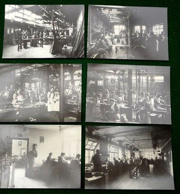 set of 6 hardy vintage postcards showing rod reel fly makers ex Hardy Museum