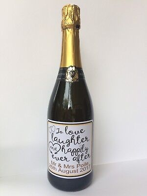 Personalised Wine/Prosecco/Champagne Bottle Sticker/label For Wedding Gift