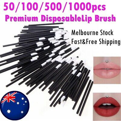 10/50/500/ Lip Gloss Wands Brush Disposable Lip Wand Lipstick Applicator AUS