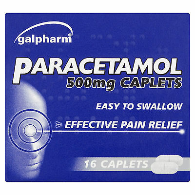 2 x PARACETAMOL 500MG CAPLETS - PAIN RELIEF - MIGRAINE - BACK ACHE MUSCULAR PAIN