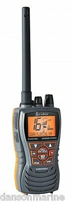 Cobra MR HH350 Handheld Floating VHF Marine LCD Radio for Boat Vessel Yacht