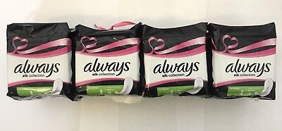 4 X Always Silk Collection Sanitary Towels NO WINGS Normal Pads Pack of 18's x 4