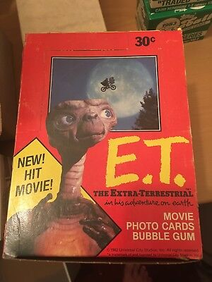 1982 Topps E.t. The Extra-Terrestrial Movie Photo Cards Wax Packs Box