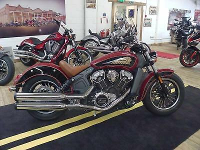2017 Indian Scout 2-Tone Red and Black - 5 YEARS WARRANTY - 1 YEAR RAC