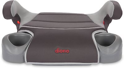 Booster Car Seat with Cup Holders Diono Hip No-Back Slate Child Safety Travel