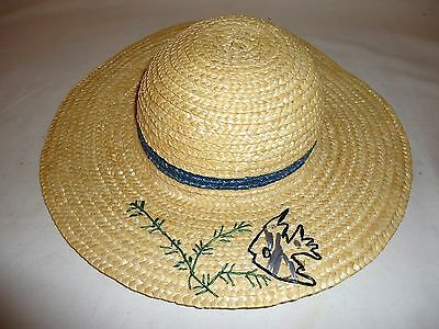 Vintage Girls Straw Hat