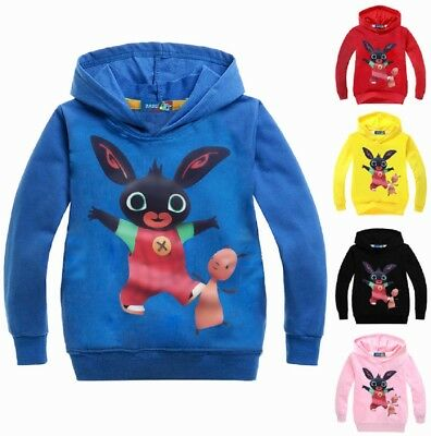 NEW Bing Bunny Hoodie - New & Sealed - 5 Colour Choices - 100% Cotton - 2-4 yrs