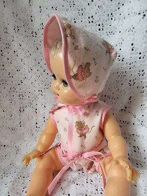 """2 Piece Romper Set For 14"""" Vintage Betsy Wetsy Baby Doll"""