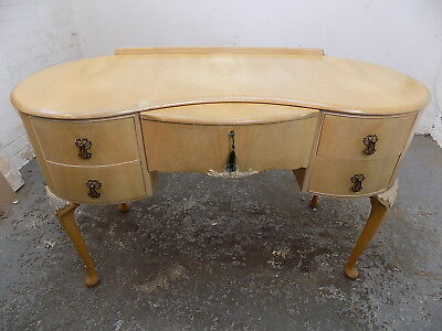 vintage,1950's,kidney shape,desk,cabriole legs,drawers,dressing table,writing,
