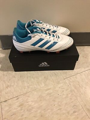 the latest 22340 80fa2 Adidas Womens Goletto VI FG Soccer Shoes, Footwear White  Energy Blue