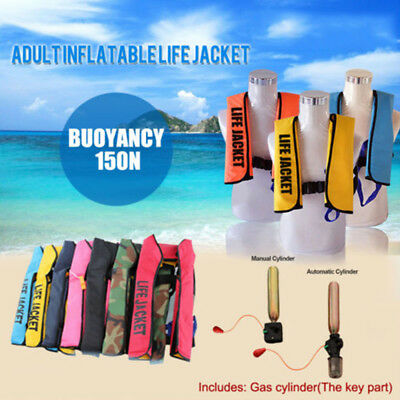 Adult Inflatable Universal Life Jacket Sailing Boating Security Swimming Vest AA