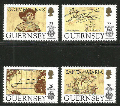 Guernsey 1992 Europa/Discovery of America--Attractive Topical (467-70) MNH