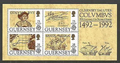 Guernsey 1992 Europa/Discovery of America ss--Attractive Topical (470a) MNH