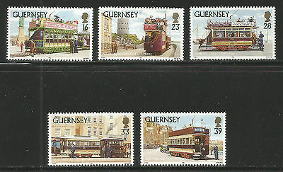 Guernsey 1992 Historic Trams--Attractive Transportation Topical (503-07) MNH