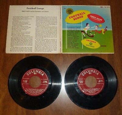 Vintage *Football Songs* Percy Faith - 2-Record Extended Play 45Rpm Set