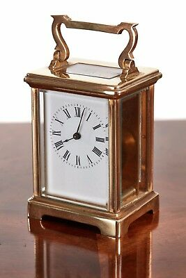 Quality Antique Brass French Carriage Clock