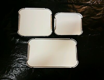 Aluminium Foil Food Takeaway Containers & Lids No1 No2 No6a Indian Chinese Party