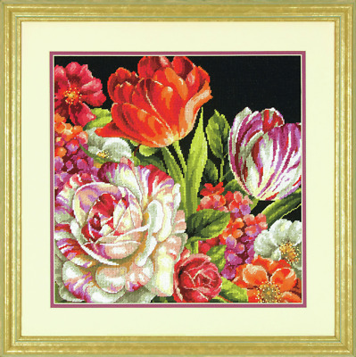 Dimensions - Needlepoint / Tapestry Kit - Bouquet on Black - D71-20079