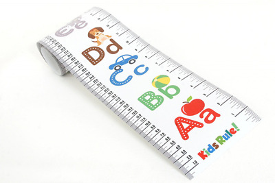 Kids Rule Alphabet Plastic Roll-Up Height Measuring Chart. Includes Mini Marker