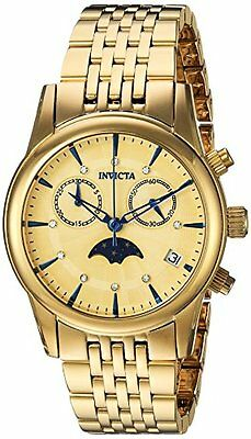 Invicta 22502 Womens Angel Quartz Stainless Steel Casual Watch, Color:Gold-Toned