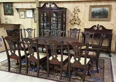 15 Pc.1890'S HEPPLEWHITE  DINING ROOM SET
